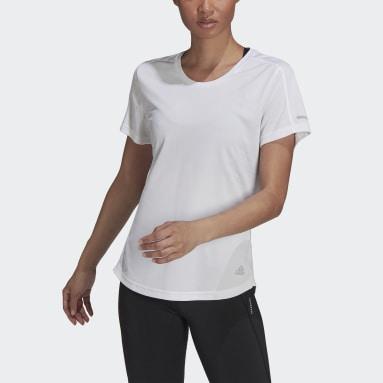 Frauen Running Run It T-Shirt Weiß