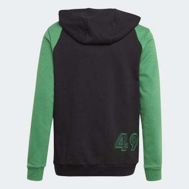 Sudadera con capucha Comfort Colorblock Negro Niño Gimnasio Y Entrenamiento