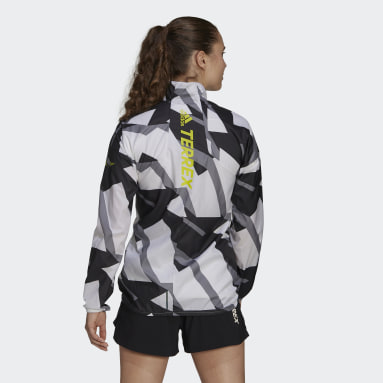 Terrex Parley Agravic Trail Running WIND.RDY Windbreaker Bialy