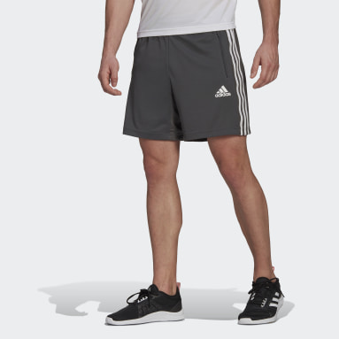 Men Training Grey Primeblue Designed To Move Sport 3-Stripes Shorts