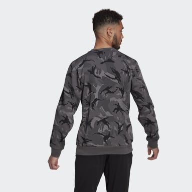 Men's Essentials Grey Essentials Camouflage Crew Sweatshirt