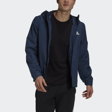 Men's Hiking Blue BSC 3-Stripes RAIN.RDY Jacket