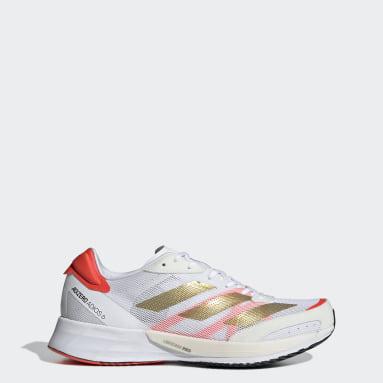 Women Running White Adizero Adios 6 Tokyo Shoes
