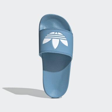 adilette Lite Sandaler Blå