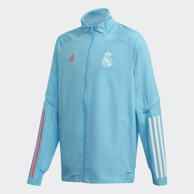 Kids Football Turquoise Real Madrid Presentation Jacket