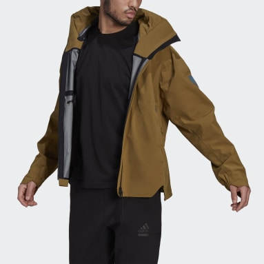 Herr City Outdoor Brun MYSHELTER Rain Jacket