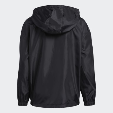 Youth Training Black Solid Wind Jacket