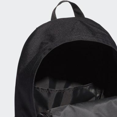 Handball Black Classic 3-Stripes Pocket Backpack