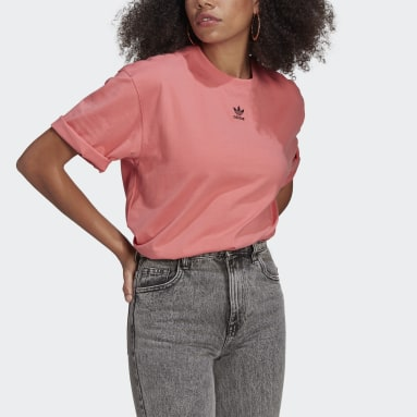 Dames Originals Roze LOUNGEWEAR Adicolor Essentials T-shirt