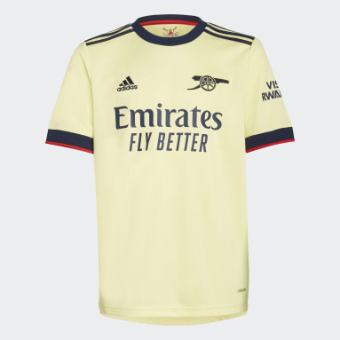 Youth 8-16 Years Football Yellow Arsenal 21/22 Away Jersey