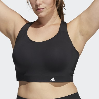 Women Gym & Training Black Ultimate Bra (Plus Size)