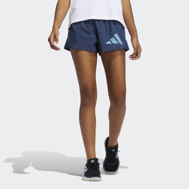 Women's Training Blue Pacer Badge of Sport Woven Shorts