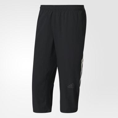 Men Training Black Climacool Three-Quarter Workout Pants