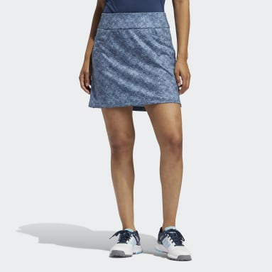 Women Golf Blue Ultimate365 Primegreen Printed Skort