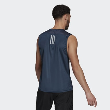 Men Running Blue Own the Run Sleeveless Tee