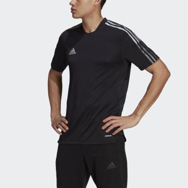 Men Soccer Black Tiro Reflective Jersey