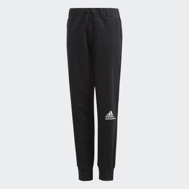 Dievčatá Sportswear čierna Tepláky adidas Z.N.E. Relaxed