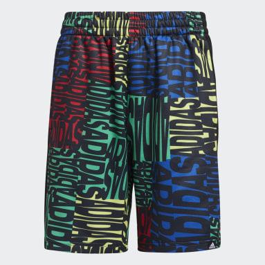 Youth Training Blue Linear Print Shorts