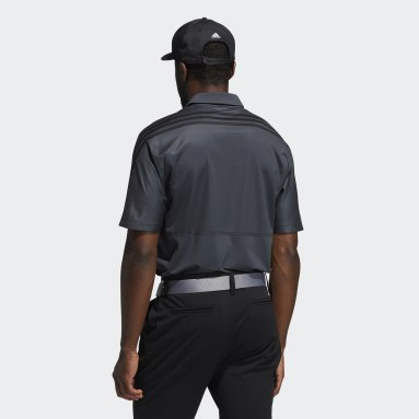 Men's Golf Grey HEAT.RDY 3-Stripes Polo Shirt