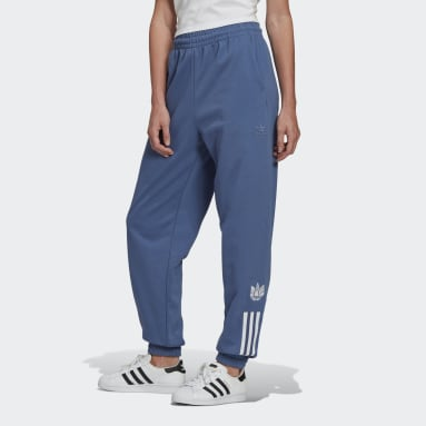 Track pants adicolor 3D Trefoil Blu Donna Originals
