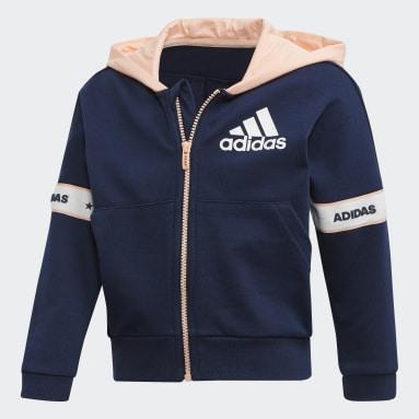 Girls Gym & Training Blue Jacket