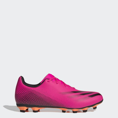 Men Football Pink X Ghosted.4 Flexible Ground Boots