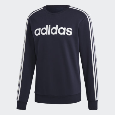 Men's Essentials Blue Essentials 3-Stripes Sweatshirt