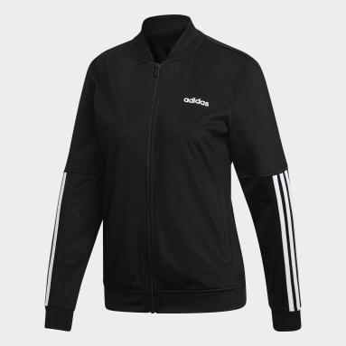 Frauen Sportswear Back 2 Basics 3-Streifen Trainingsanzug Schwarz
