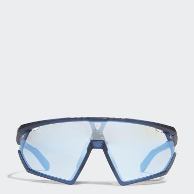 Padel Tennis Blå SP0001 Matte Blue Injected Sport solbriller