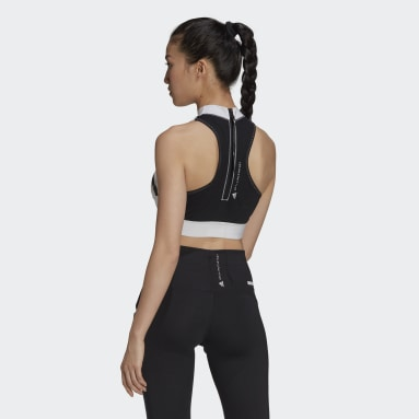 Top corto adidas by Stella McCartney TrucePace HEAT.RDY Primeblue Blanco Mujer adidas by Stella McCartney