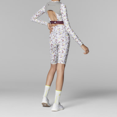 Cycliste adidas by Stella McCartney TruePurpose Allover Print blanc Femmes adidas by Stella McCartney
