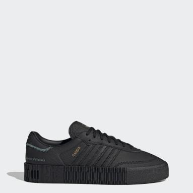SAMBAROSE sko med Swarovski®-krystaller Svart