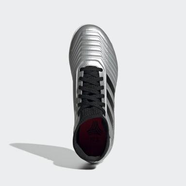 Calzado de Fútbol Predator Tango 19.3 Bajo Techo (UNISEX) Plata Niño Fútbol