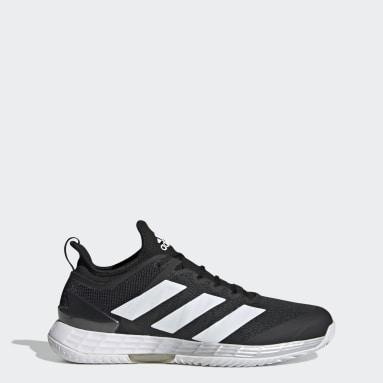 Men's Tennis Black Adizero Ubersonic 4 Tennis Shoes