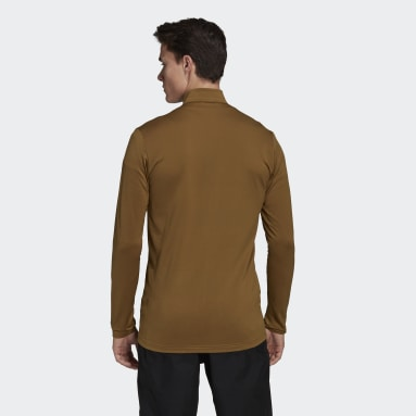 Men TERREX Brown Terrex Multi Primegreen Full-Zip Fleece Jacket