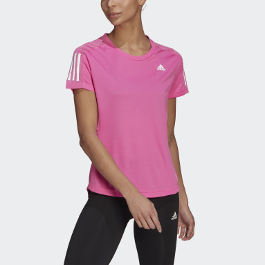 Women Running Pink Own the Run T-Shirt