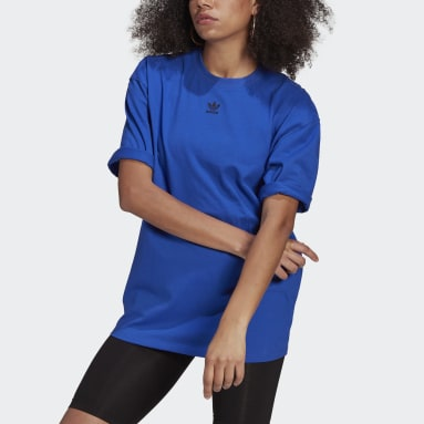 Women's Originals Blue LOUNGEWEAR Adicolor Essentials Tee