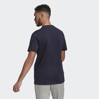 Männer Sportswear Essentials Big Logo T-Shirt Blau