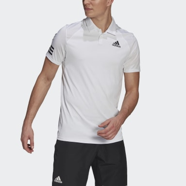 Tenis Club  Camiseta Polo 3 Rayas Blanco Hombre Tennis