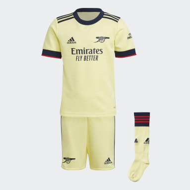Children Soccer Yellow Arsenal 21/22 Away Mini Kit