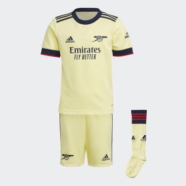 Kinder Fußball FC Arsenal 21/22 Mini-Auswärtsausrüstung Gelb
