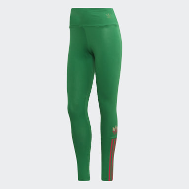 Tight Adicolor 3D Trefoil Vert Femmes Originals