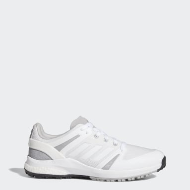Men's Golf White EQT Spikeless Wide Golf Shoes