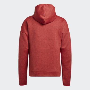 Men Sportswear Red adidas Z.N.E. Hoodie featuring Fast Release Zipper