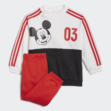 Infant & Toddler Training White Disney Mickey Mouse Jogger Set