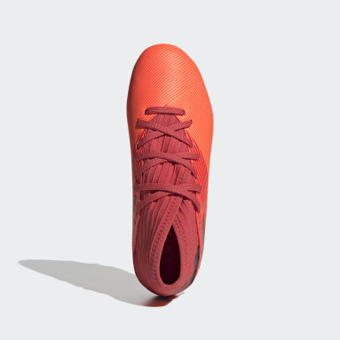 Kids Football Orange Nemeziz 19.3 Mixed Ground Boots