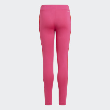 Girls Lifestyle Pink Designed 2 Move 3-Stripes Tights