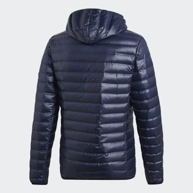 Mænd Overtøj Med Gadestil Blå Varilite Hooded dunjakke