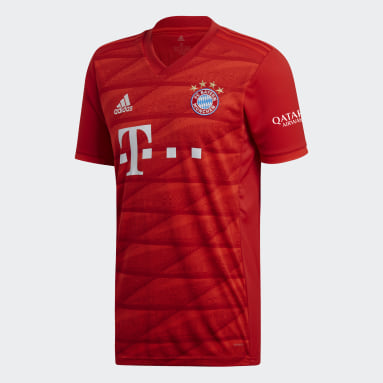Men Football Red FC Bayern Home Jersey