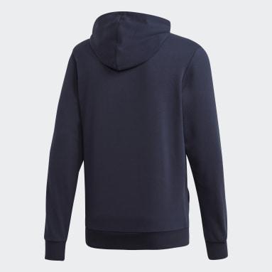 Sudadera con Gorro Essentials 3 Franjas Azul Hombre Sportswear